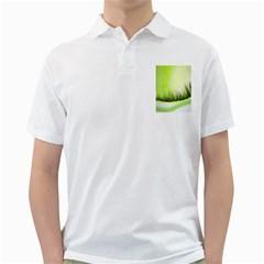 Green Background Wallpaper Texture Golf Shirts