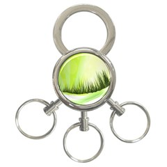 Green Background Wallpaper Texture 3 Ring Key Chains