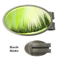 Green Background Wallpaper Texture Money Clips (oval)