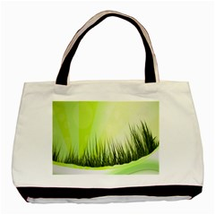 Green Background Wallpaper Texture Basic Tote Bag