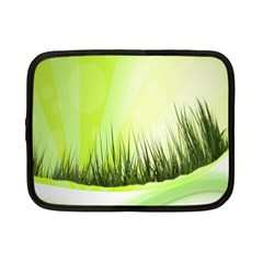 Green Background Wallpaper Texture Netbook Case (small)