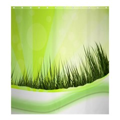 Green Background Wallpaper Texture Shower Curtain 66  X 72  (large)