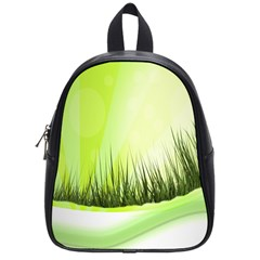 Green Background Wallpaper Texture School Bags (small)