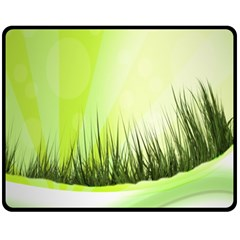 Green Background Wallpaper Texture Fleece Blanket (medium)