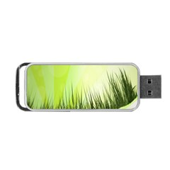 Green Background Wallpaper Texture Portable Usb Flash (one Side)