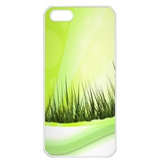 Green Background Wallpaper Texture Apple Iphone 5 Seamless Case (white)