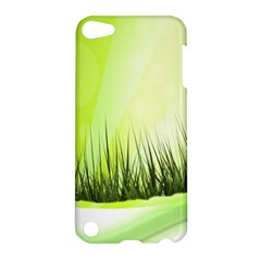 Green Background Wallpaper Texture Apple Ipod Touch 5 Hardshell Case
