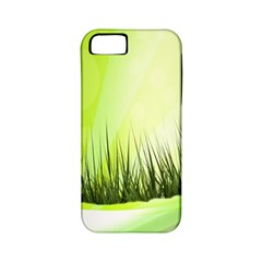 Green Background Wallpaper Texture Apple Iphone 5 Classic Hardshell Case (pc+silicone)