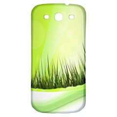 Green Background Wallpaper Texture Samsung Galaxy S3 S Iii Classic Hardshell Back Case