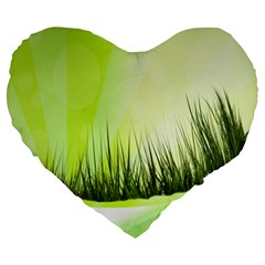 Green Background Wallpaper Texture Large 19  Premium Heart Shape Cushions