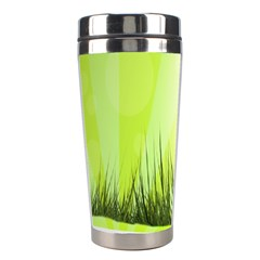 Green Background Wallpaper Texture Stainless Steel Travel Tumblers