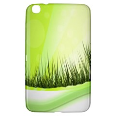 Green Background Wallpaper Texture Samsung Galaxy Tab 3 (8 ) T3100 Hardshell Case