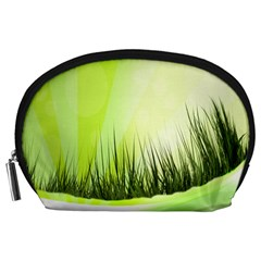 Green Background Wallpaper Texture Accessory Pouches (large)