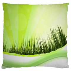 Green Background Wallpaper Texture Large Flano Cushion Case (two Sides)