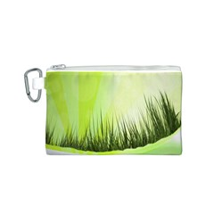 Green Background Wallpaper Texture Canvas Cosmetic Bag (s)