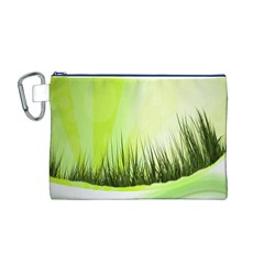 Green Background Wallpaper Texture Canvas Cosmetic Bag (m)