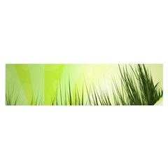Green Background Wallpaper Texture Satin Scarf (oblong)