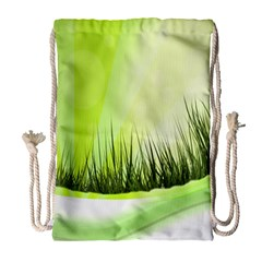 Green Background Wallpaper Texture Drawstring Bag (large)