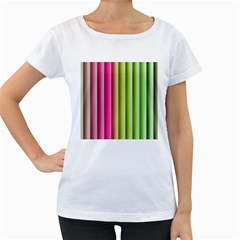 Vertical Blinds A Completely Seamless Tile Able Background Women s Loose Fit T Shirt (white)