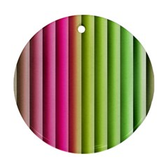 Vertical Blinds A Completely Seamless Tile Able Background Round Ornament (two Sides)