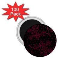 Pink Floral Pattern Background 1 75  Magnets (100 Pack)