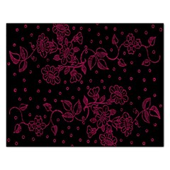 Pink Floral Pattern Background Rectangular Jigsaw Puzzl