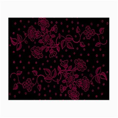 Pink Floral Pattern Background Small Glasses Cloth