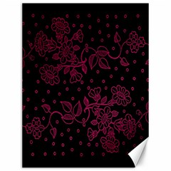 Pink Floral Pattern Background Canvas 12  X 16