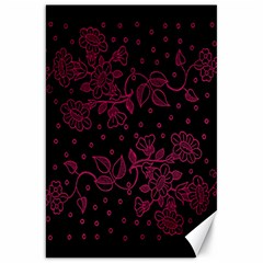 Pink Floral Pattern Background Canvas 20  X 30