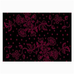 Pink Floral Pattern Background Large Glasses Cloth