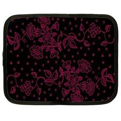 Pink Floral Pattern Background Netbook Case (large)
