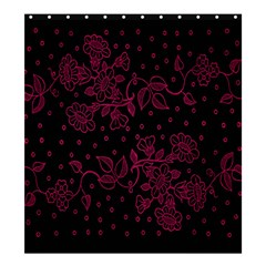 Pink Floral Pattern Background Shower Curtain 66  X 72  (large)