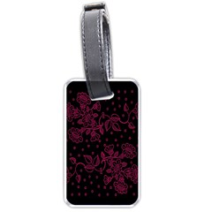 Pink Floral Pattern Background Luggage Tags (one Side)