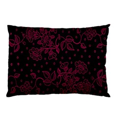 Pink Floral Pattern Background Pillow Case (two Sides)
