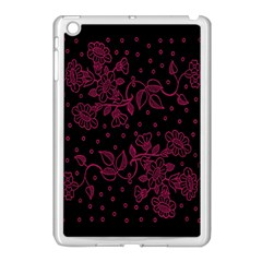 Pink Floral Pattern Background Apple Ipad Mini Case (white)