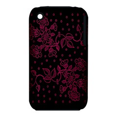 Pink Floral Pattern Background Iphone 3s/3gs