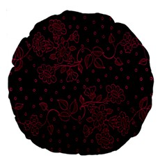 Pink Floral Pattern Background Large 18  Premium Round Cushions