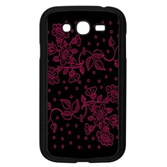 Pink Floral Pattern Background Samsung Galaxy Grand Duos I9082 Case (black)