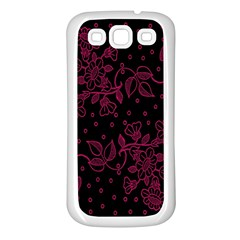 Pink Floral Pattern Background Samsung Galaxy S3 Back Case (white)
