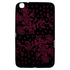 Pink Floral Pattern Background Samsung Galaxy Tab 3 (8 ) T3100 Hardshell Case