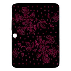 Pink Floral Pattern Background Samsung Galaxy Tab 3 (10 1 ) P5200 Hardshell Case