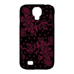 Pink Floral Pattern Background Samsung Galaxy S4 Classic Hardshell Case (pc+silicone)