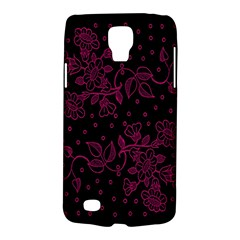 Pink Floral Pattern Background Galaxy S4 Active
