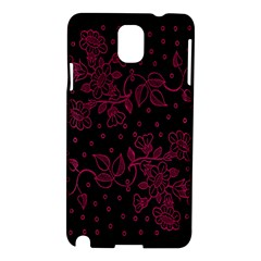 Pink Floral Pattern Background Samsung Galaxy Note 3 N9005 Hardshell Case