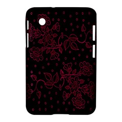 Pink Floral Pattern Background Samsung Galaxy Tab 2 (7 ) P3100 Hardshell Case