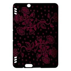 Pink Floral Pattern Background Kindle Fire Hdx Hardshell Case