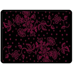 Pink Floral Pattern Background Double Sided Fleece Blanket (large)