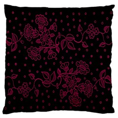 Pink Floral Pattern Background Large Flano Cushion Case (two Sides)
