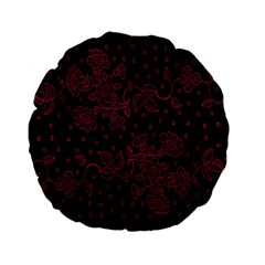 Pink Floral Pattern Background Standard 15  Premium Flano Round Cushions