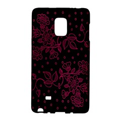 Pink Floral Pattern Background Galaxy Note Edge